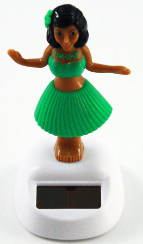 Solar Powered Dashboard Hula Girl - Green