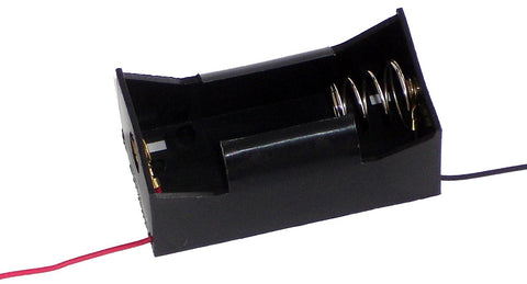 D Cell Battery Holder w/Leads