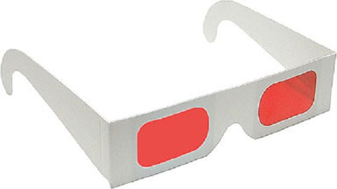 Decoder Glasses for Sweepstakes and Prize Giveaways-Red/Red-White Frame-Pack of 5