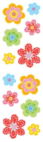 Mrs Grossman's Stickers - Delightful Flowers- Foil Accent