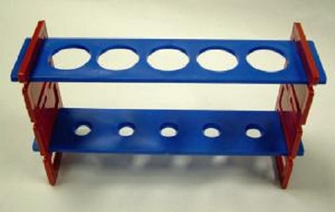 Test Tube Rack- Demountable - 5 (30mm) Holes Plastic