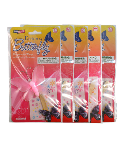 Design a Butterfly Pack of 5 Decorating Craft By Toysmith
