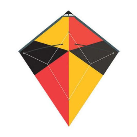 WindNSun Diamond Stunt Kite Red, Yellow, Black