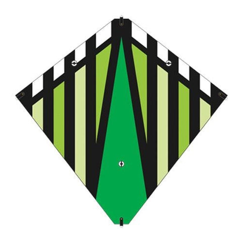 30 Inch X-Kites Green Stunt Diamond Kite w/Double Handles & Line