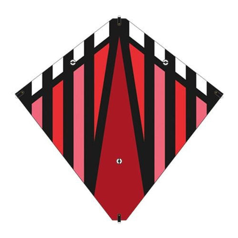 30 Inch X-Kites Red Stunt Diamond Kite w/Double Handles & Line