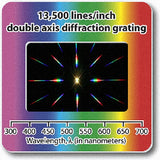 Diffraction Grating Slide - Double Axis 13,500 lines/in 2x2 in