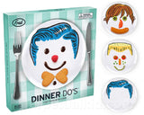 Dinner Do's Design a Face -  Plate Set for Kids - Boys Style