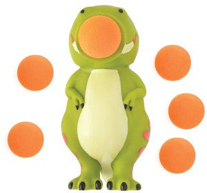 DinoPopper Dinosaur Shaped Foam Ball Toy Shooter with 6 Foam Balls