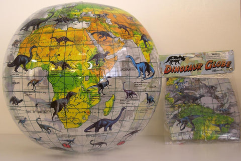 Inflatable Dinosaur World Globe 12 inches