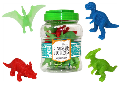 Dinosaur Figures Assortment (20 count) by Toysmith