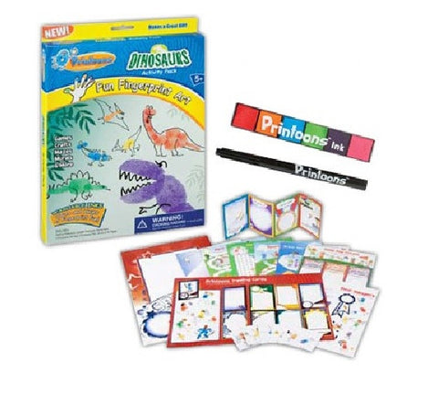 Dinosaurs Fun Fingerprint Large Art Activity Kit: Printoons