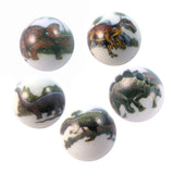 25 mm Dinosaur Animarbles Set of 5 Educational Marbles w Stands & Bag