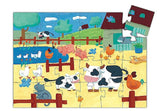 24 pc. Silhouette Jigsaw Puzzle - The Cows on the Farm- by Djeco