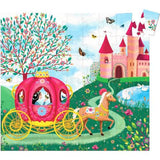 54 pc. Silhouette Jigsaw Puzzle - Elise's Carriage - by Djeco
