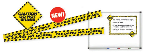 Caution Do Not Erase Magnet Set - 9 Magnetic Warnings