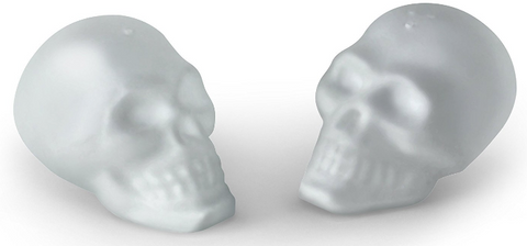 "Doomed Salt and Pepper Shakers ""Glass Skulls"""
