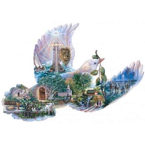 Dove of Hope Bird Shaped Jigsaw Puzzle 1000 Piece