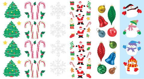 Mrs. Grossman's Christmas Stickers, Set D - Snowmen, Ornaments, Trees & More