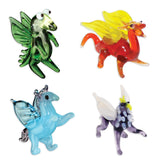 Looking Glass Miniature Collectible - 2 Dragons, Griffin & Pegasus (4-Pack)