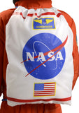 Astronaut Drawstring Backpack by Aeromax - White Adjustable Back Pack