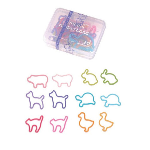 PET Animal Silicone Rubber Band Bracelets w/ Box Made in Japan 24pk
