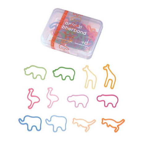ZOO Animal Silicone Rubber Band Bracelets w/ Box Made in Japan 24pk