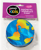 Earth Shaped Magnetic Whiteboard Eraser - Dry Erase Magnet Tool
