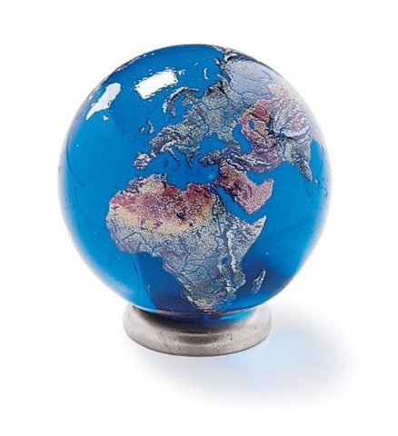 Jumbo 1.4 Inch Earth Marble with Stand