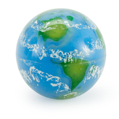 Earth Bouncy Globe Ball - 1.5 inch Diameter