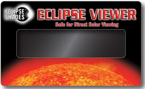 "Solar Eclipse Viewer- CE Certified 3"" x 5"" Hand-held Card-Pack of 30"