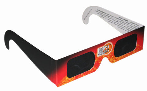 Solar Eclipse Viewing Glasses - CE Certified Safe Shades with Polymer Lenses & Orange Frame - Pk of 5