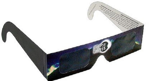 Eclipse Glasses - Solar Eclipse CE Certified Safe Shades - Black Frame - Pack of 30