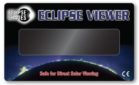 "Solar Eclipse Viewer- CE Certified Safe 3"" x 5"" Hand-held Card-Pack of 5"