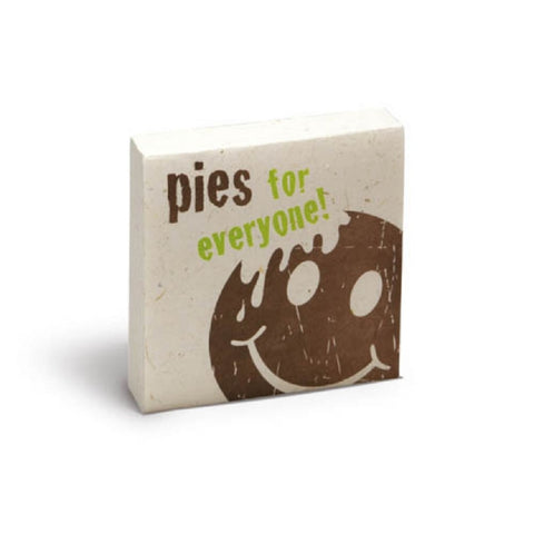 PooPoo Paper - Pies for Everyone Scratch Pad - Made of Recycled Cow Poo