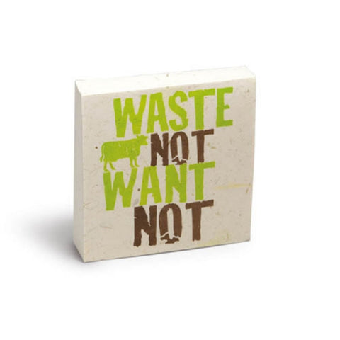 PooPoo Paper - Waste Not Want Not Scratch Pad - Made of Recycled Cow Poo
