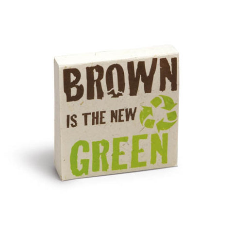PooPoo Paper - Brown Is the New Green Scratch Pad - Made of Recycled Elephant Poo