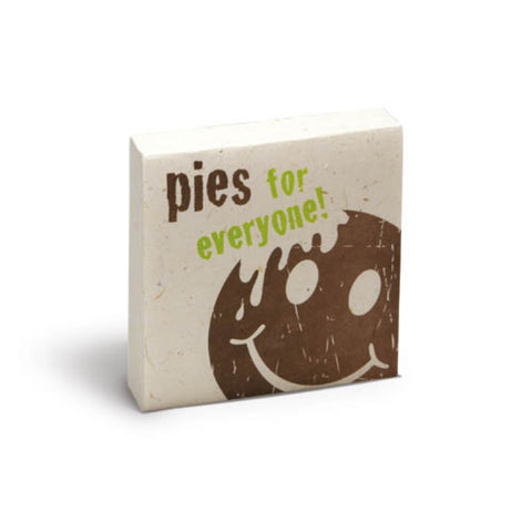 PooPoo Paper - Pies For Everyone Scratch Pad - Made of Recycled Elephant Poo