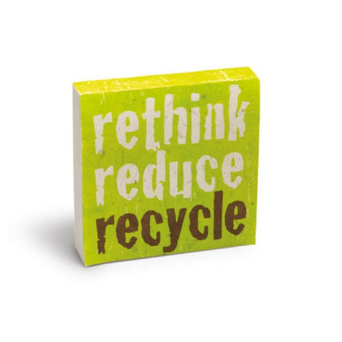 PooPoo Paper - Rethink Reduce Recycle Scratch Pad - Made of Recycled Elephant Poo