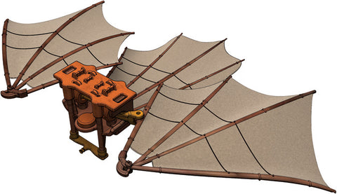 Leonardo da Vinci's Great Flying Manned Kite Model Kit