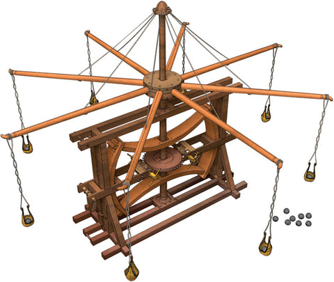 Leonardo da Vinci's Multiple Sling Catapult Model Kit