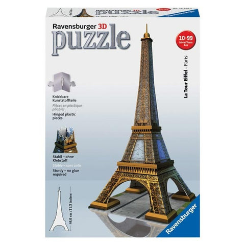 3D Puzzle by Ravensburger:  Eiffel Tower of Paris - 216 Pieces