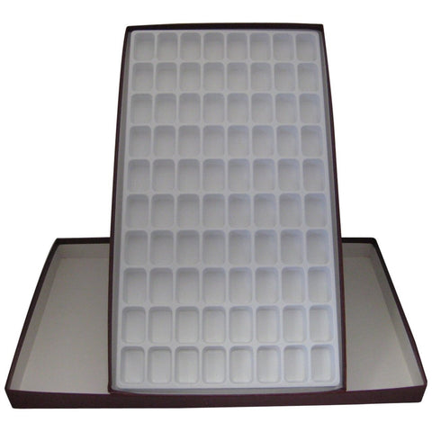 Eighty Cell Rock Storage Box & Tray: Collection Display