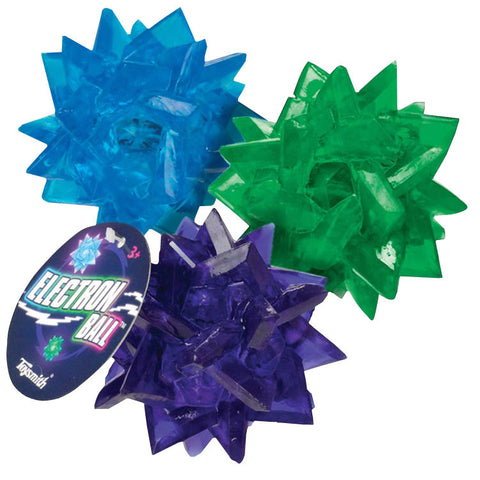 Light-Up Electron Ball Set of 3 Blue, Green, Purple