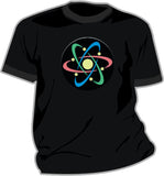 Sound and Motion Activated EL T-Shirt - Electron - Large