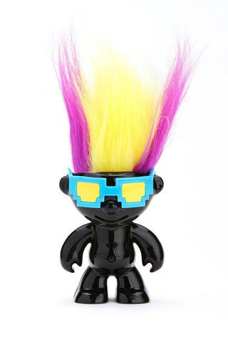 ElektroKidz - Shiny Black - Dancing Hair Troll Doll Toy by WowWee