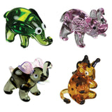 Looking Glass Miniature Collectible - 3 Different Elephants & Giraffe (4-Pack)