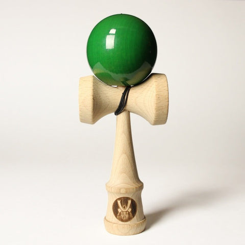 Samurai Kendama w/Emerald Green Colored Ball, by Bushido Kendama