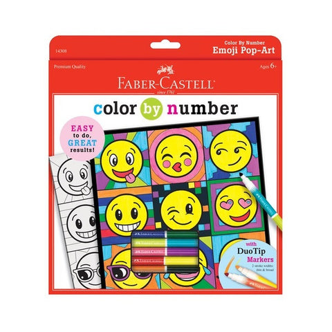 Color by Number Emoji Pop Art by Faber-Castell