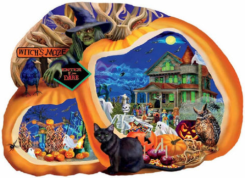 Enter If You Dare Pumpkin Shaped Halloween Jigsaw Puzzle 1000 Piece