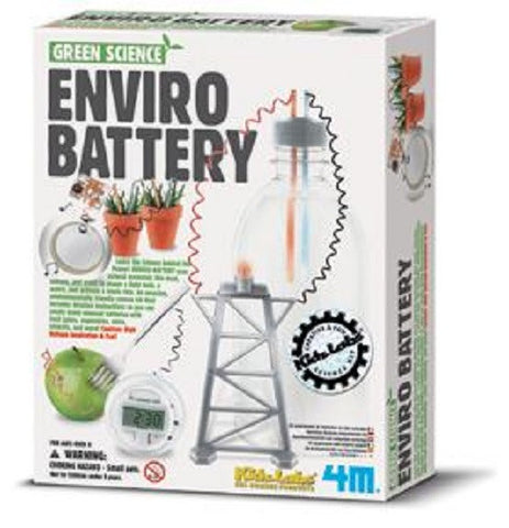Enviro Battery Kit Green Science Use Natural Materials